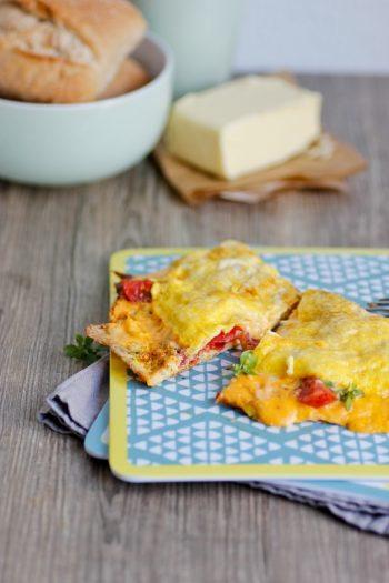 Omelett mit Schmelzkäse-Kern