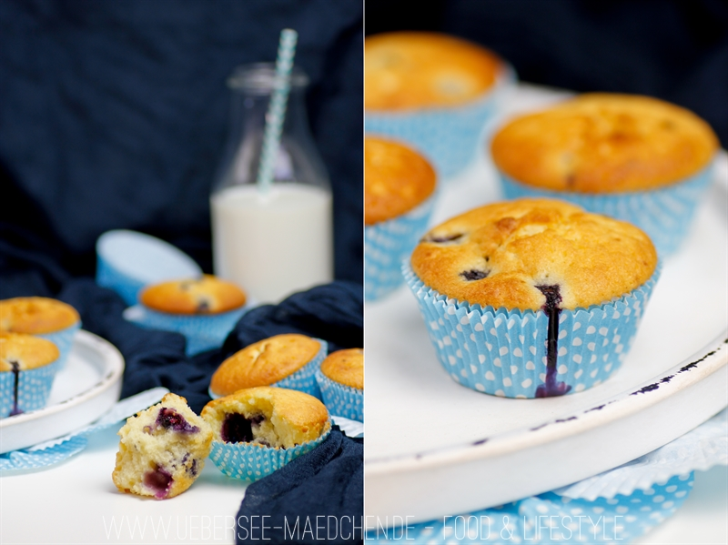 Rezept für schnelle Blaubeer-Muffins ohne Topping