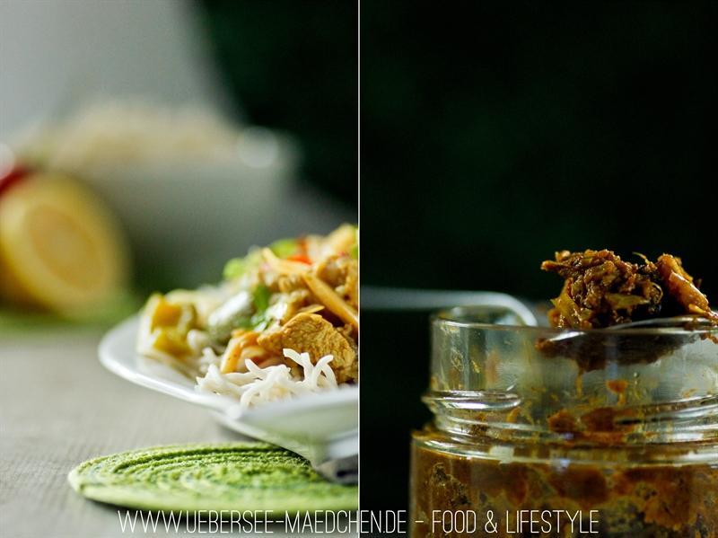 Rezept für selbstgemachte gelbe Currypaste
