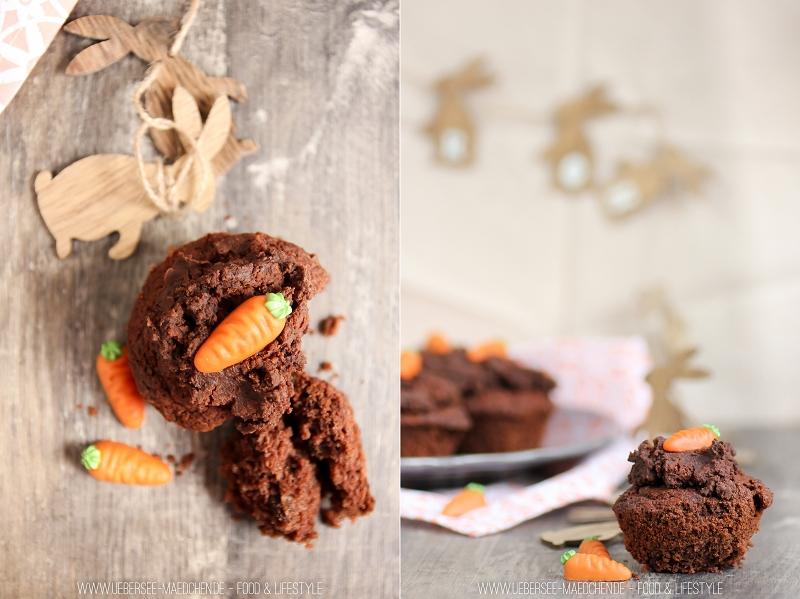 Rezept für Ostern: Schoko-Muffins mit Erdhaufen-Topping