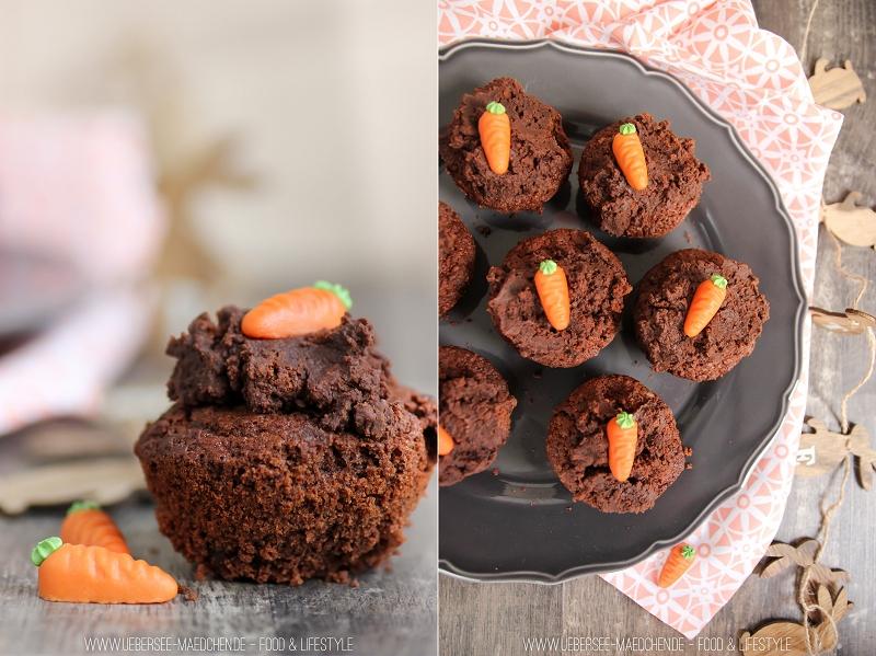 Österliche Schoko-Muffins mit leckerem Topping