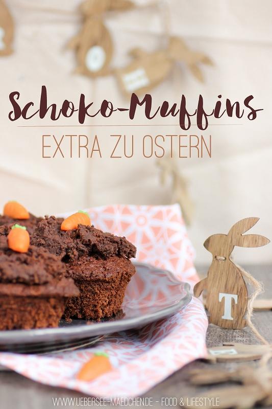 Schoko-Muffins zu Ostern