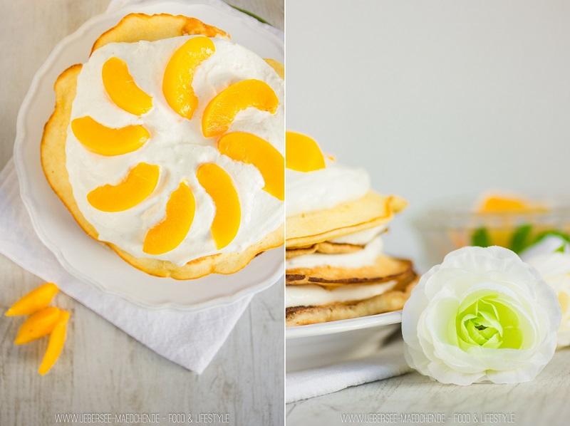 Pfannkuchen-Torte geht schnell zum Muttertag