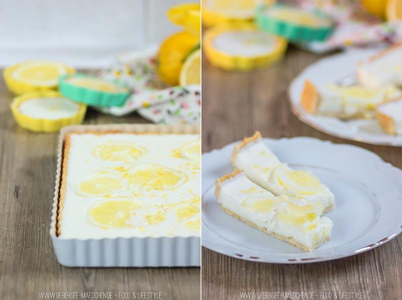 Sommerliche Zitronen-Buttermilch-Tarte