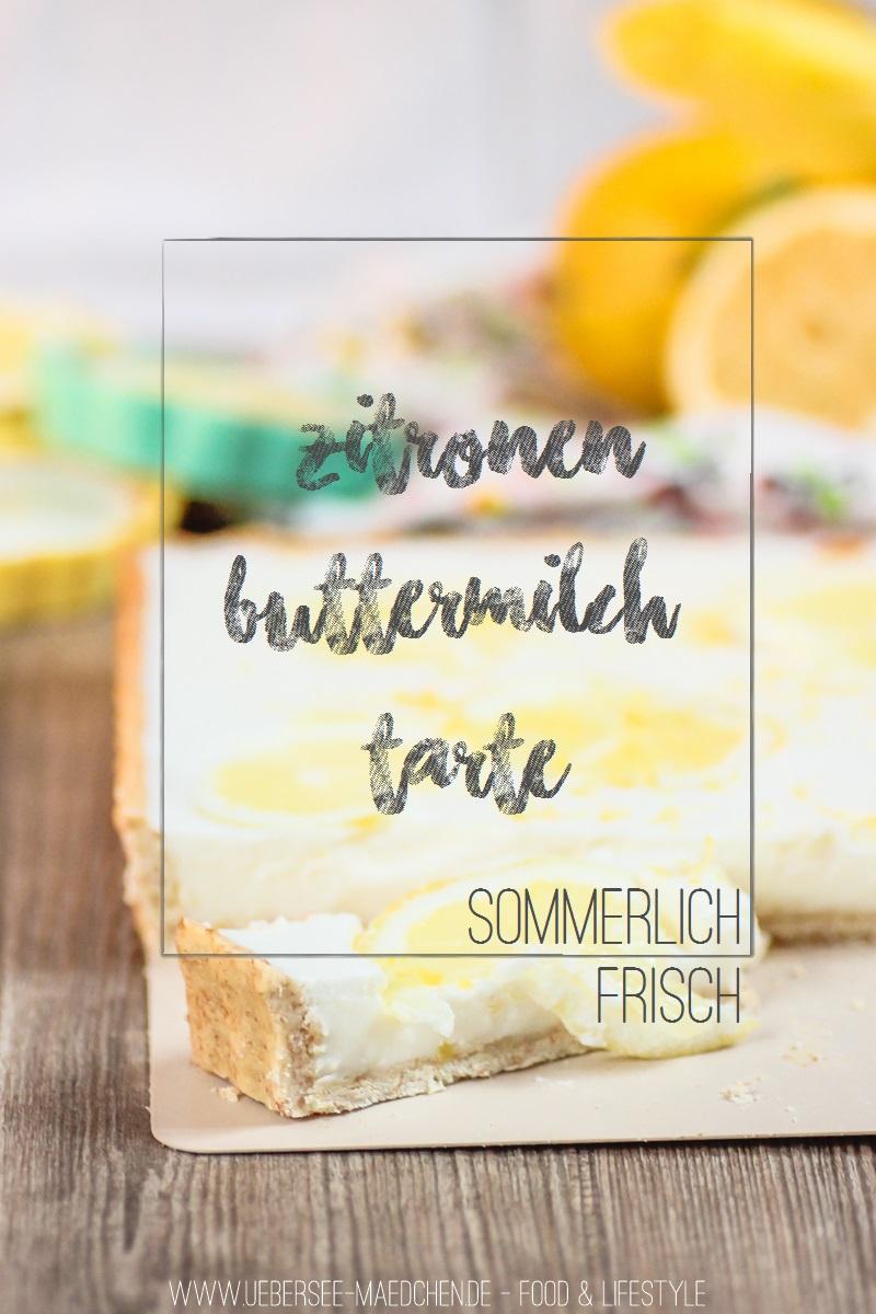 Rezept für Zitronen-Buttermilch-Tarte