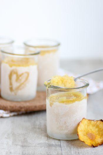 Rezept für fruchtiges Ananas-Sorbet aus vier Zutaten
