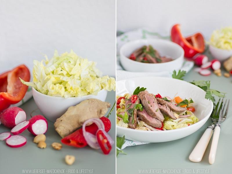 asia salat mit saftigem rindfleisch bersee m dchen. Black Bedroom Furniture Sets. Home Design Ideas