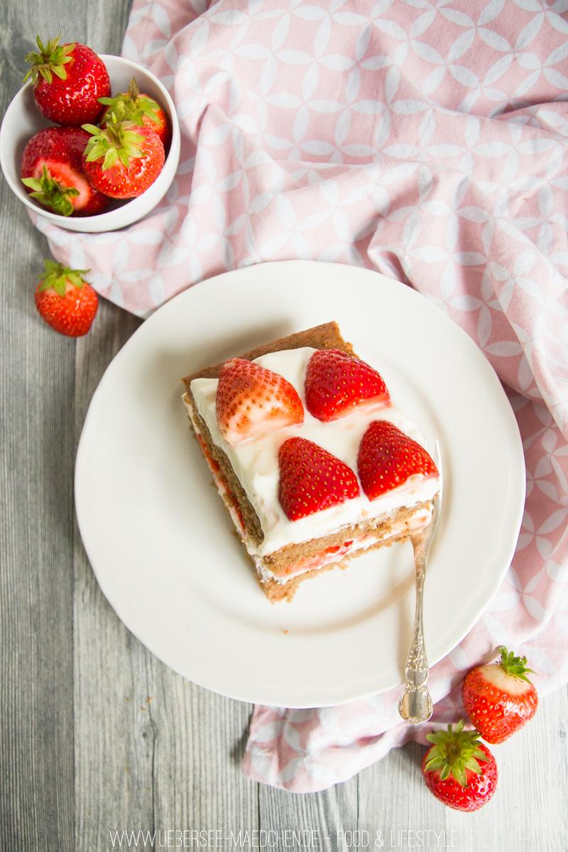 Rezept für Erdbeer-Torte mit zwei Schichten