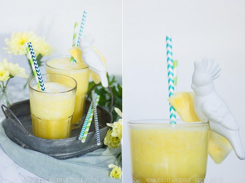 Ananas-Kokos-Drink aus drei Zutaten