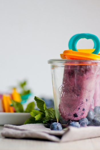 Rezept für Blaubeer-Eis Popsicle