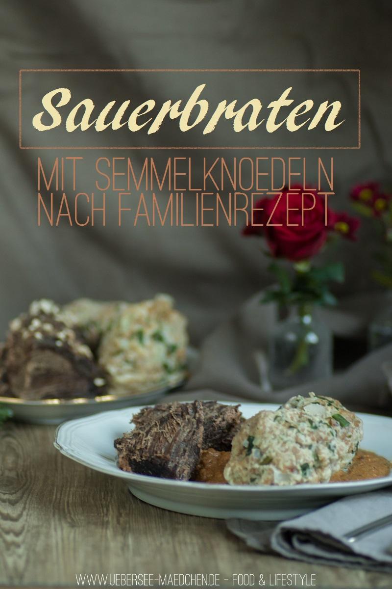 Sauerbraten mit Semmelnködeln nach Familienrezept im Schnellkochtopf