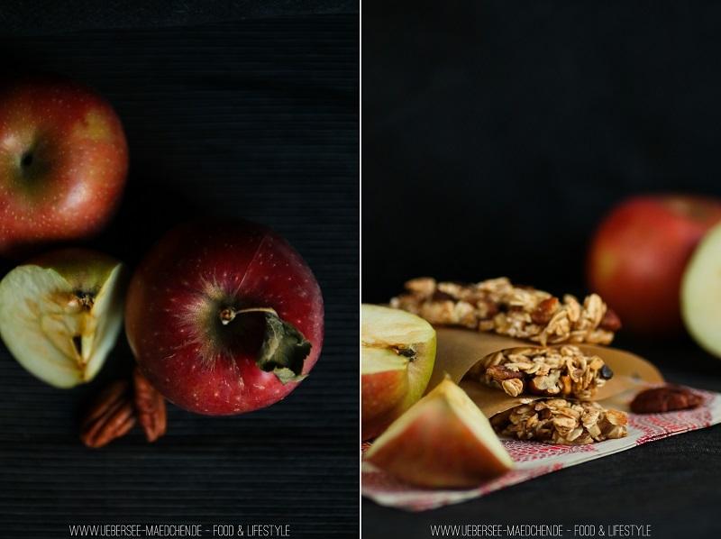 Rezept für Müsliriegel selbstgemacht mit Apfel Nuss