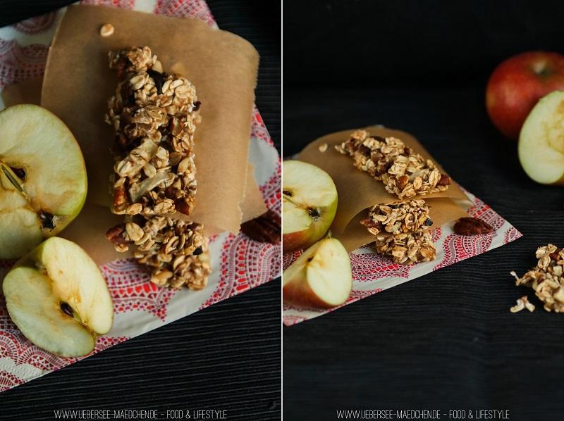Müsliriegel mit Nuss und Apfel