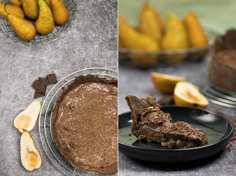 Rezept für Birnenkuchen mit Schokopudding