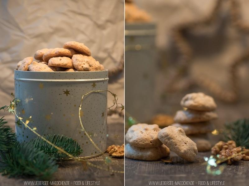 Plätzchen Walnuss-Schäumchen zur Eiweißverwertung