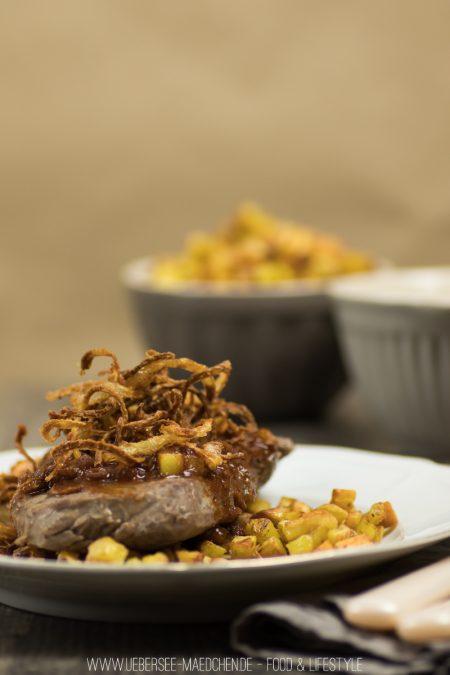 Rezept für Zwiebelrostbraten einfach selbstgemacht