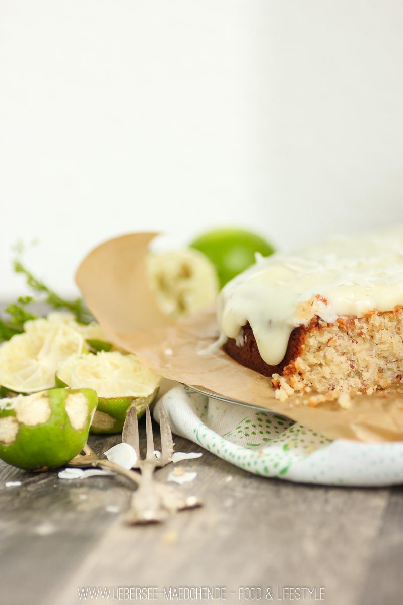 Backen ohne Mehl Rezept für Kokos-Limetten-Kuchen