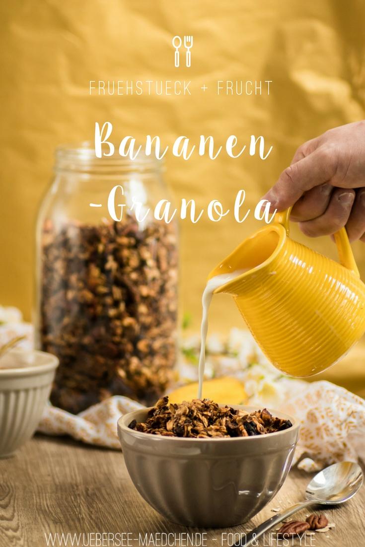 Rezept für Bananen-Granola Resteverwertung Frühstück mal anders Haferflocken vom ÜberSee-Mädchen, der Foodblog vom Bodensee Überlingen