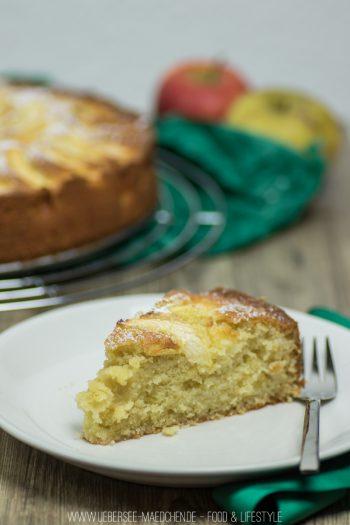 Rezept für Apfelkuchen mit Rührteig schnell einfach backen