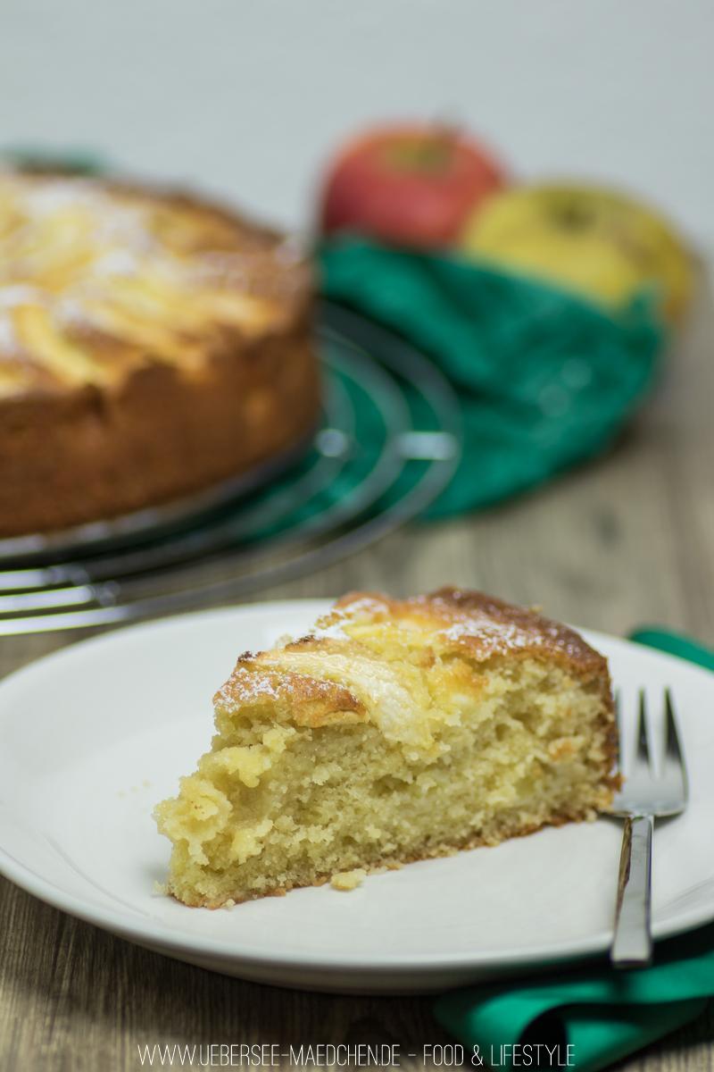 Rezept für Apfelkuchen mit Rührteig schnell einfach backen wie das ÜberSee-Mädchen, der Foodblog vom Bodensee