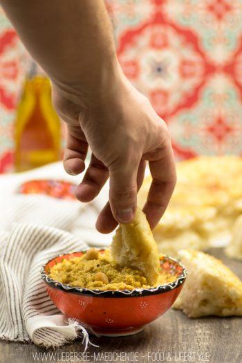 Rezept für orientalisches Hummus mit Fladenbrot von dem Foodblog vom Bodensee ÜberSee-Mädchen