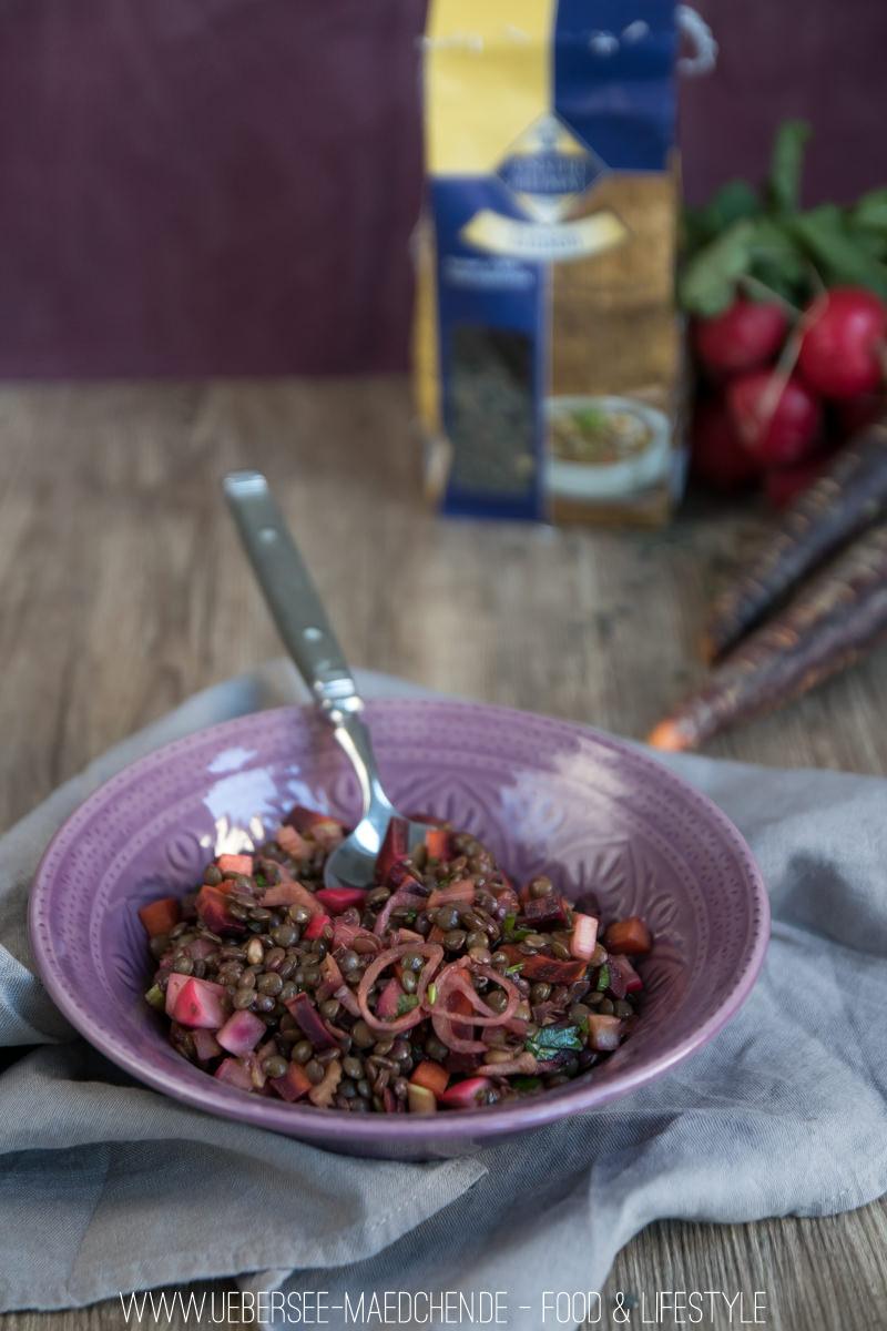 Linsensalat mit Urkarotte und Balsamico-Dressing Rezept von ÜberSee-Mädchen Foodblog vom Bodensee Überlingen