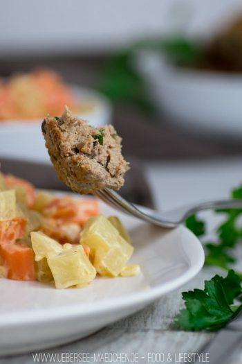 Kohlrabi-Möhren-Gemüse mit Frikadellen als Low-Carb-Gericht Rezept von ÜberSee-Mädchen der Foodblog vom Bodensee Überlingen