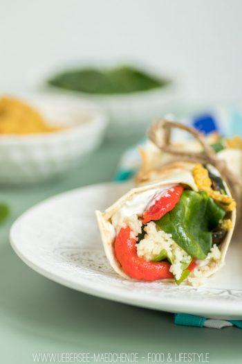 Antipasti-Wraps mit Gemüse Hummus und Couscous Rezept für Mittagspause ÜberSee-Mädchen Foodblog vom Bodensee Überlingen