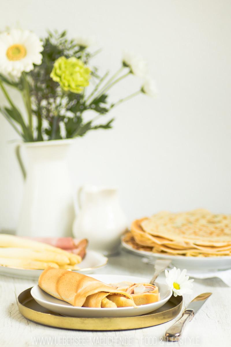 Spargel mit Pfannkuchen und Sauce hollandaise Rezept von ÜberSee-Mädchen Foodblog vom Bodensee Überlingen