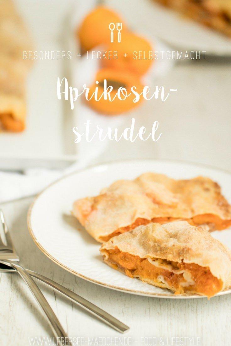 Aprikosenstrudel einfaches Rezept für Dessert on ÜberSee-Mädchen Foodblog vom Bodensee Überlingen