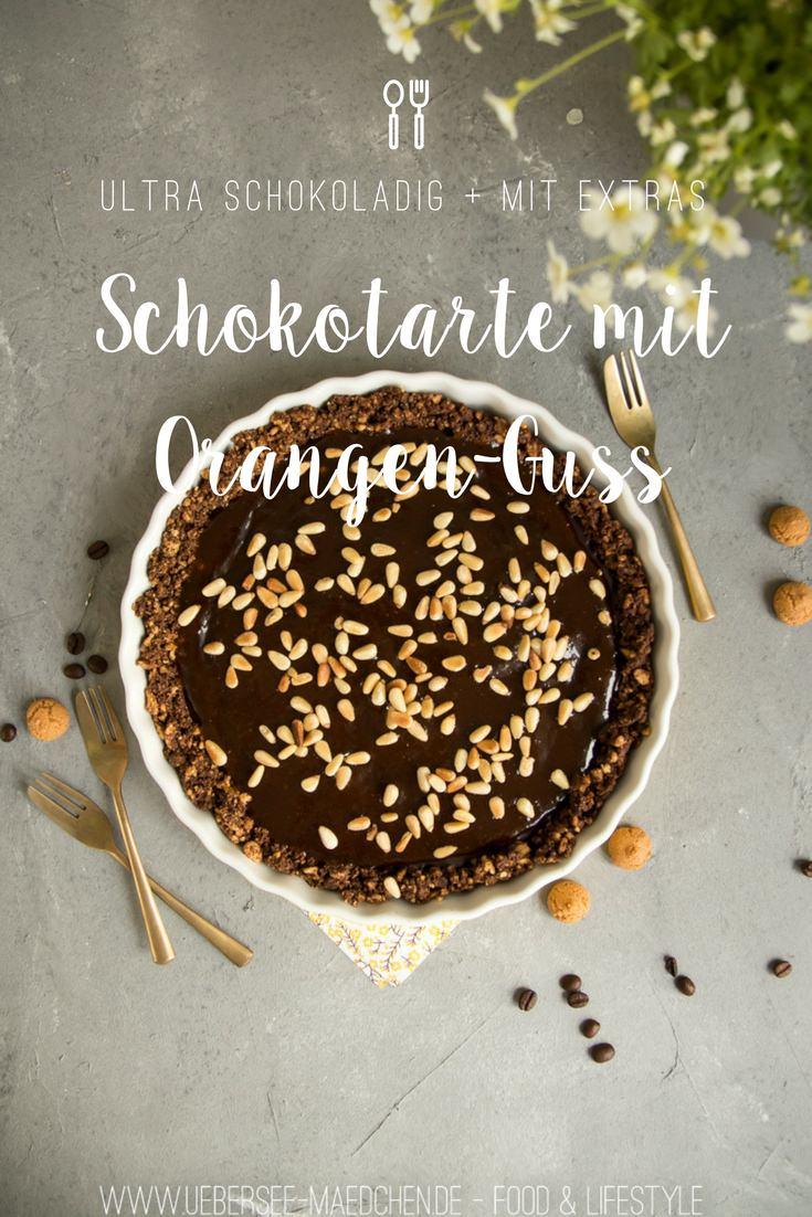 Schokotarte ohne Backen mit Orangen-Whiskey-Guss no bake von ÜberSee-Mädchen Foodblog vom Bodensee Überlingen