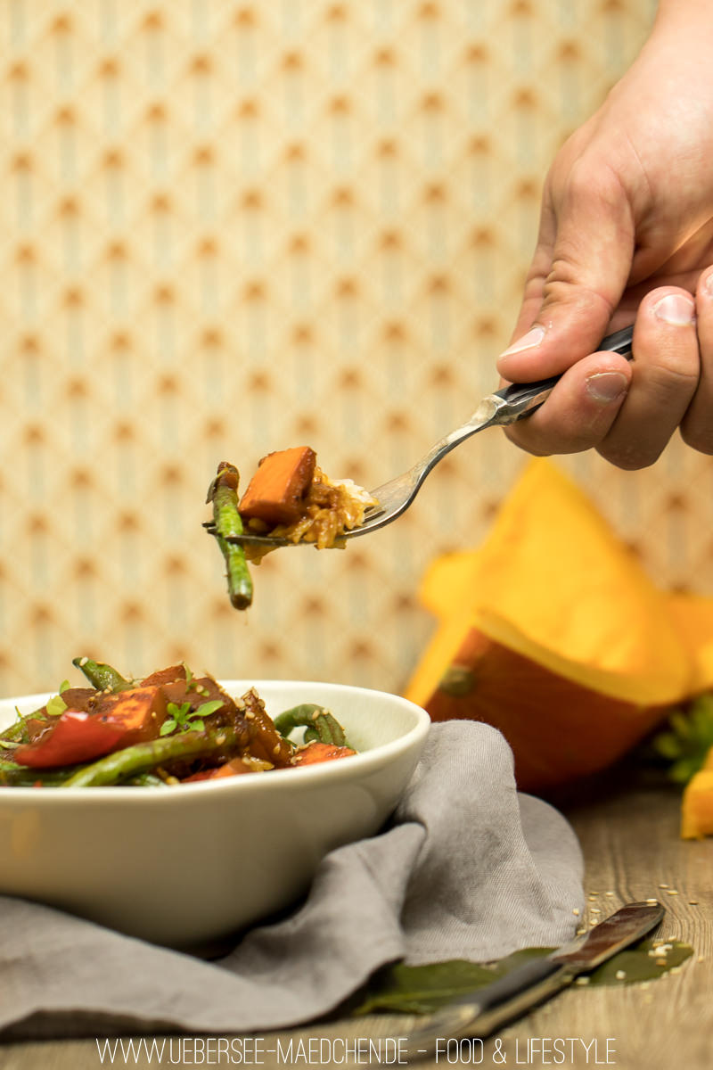 Kürbis-Curry mit Hokkaido Paprika Bohnen rote Currypaste Rezept on ÜberSee-Mädchen Foodblog Bodensee Überlingen