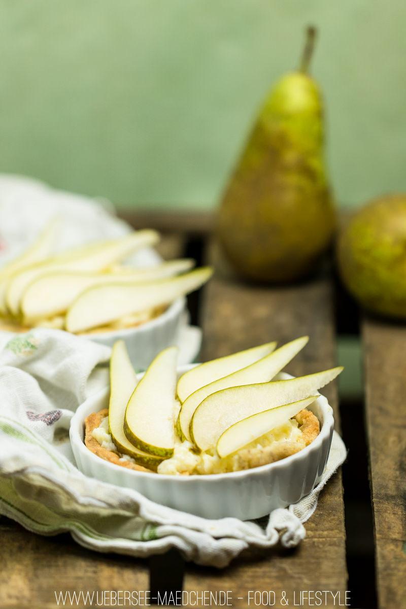 Vanillecreme-Tartelettes mit Birnen mit Mandelmürbeteig Messerkochbuch Rezension Rezept von ÜberSee-Mädchen Foodblog Bodensee Überlingen