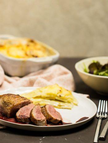 Entenbrust mit Portweinsauce als Weihnachtsdinner mit Kartoffelgratin und Rote-Beete-Salat einfach aber große Wirkung Rezept ÜberSee-Mädchen Foodblog Bodensee Überlingen