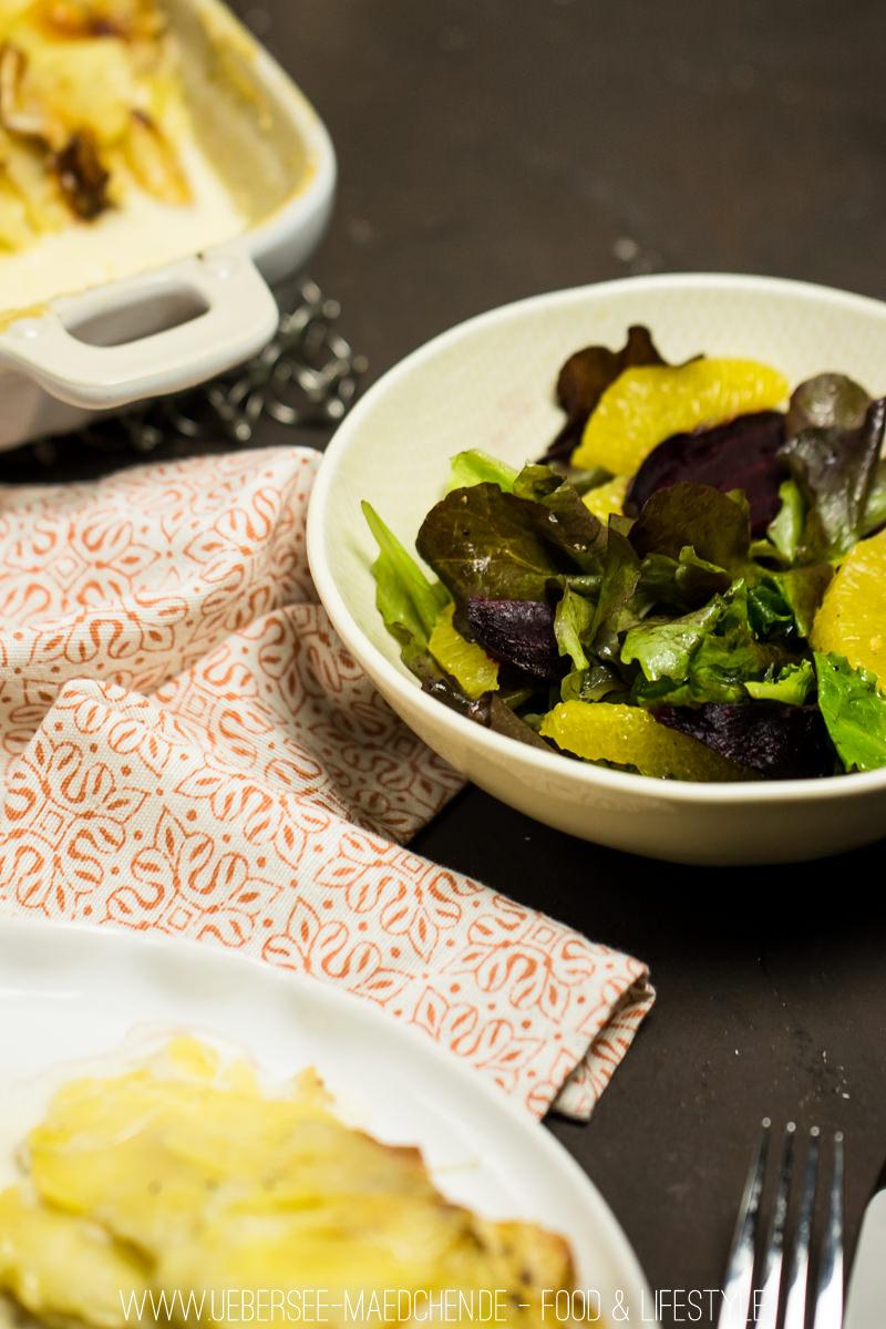 weihnachtsessen entenbrust mit portweinsauce kartoffelgratin und salat mit roter beete. Black Bedroom Furniture Sets. Home Design Ideas