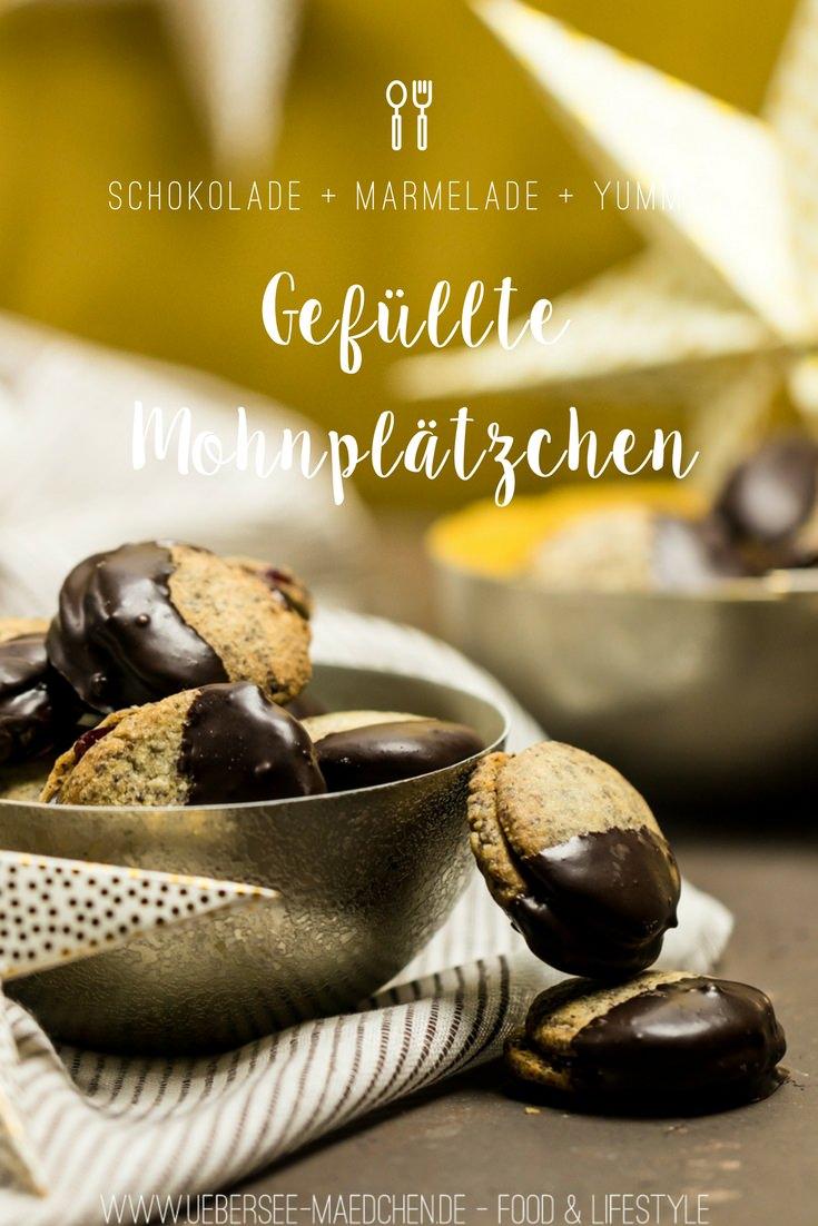 Gefüllte Mohnplätzchen mit Schokolade Doppeldecker Plätzchen Rezept von ÜberSee-Mädchen Foodblog Bodensee Überlingen