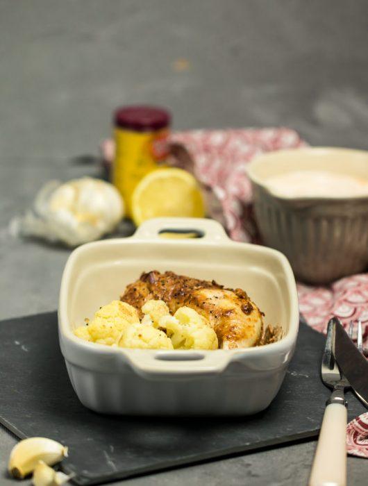 Hähnchen Tikka Masala mit Blumenkohl Blechkochbuch Rezept von ÜberSee-Mädchen Foodblog Bodensee Überlingen