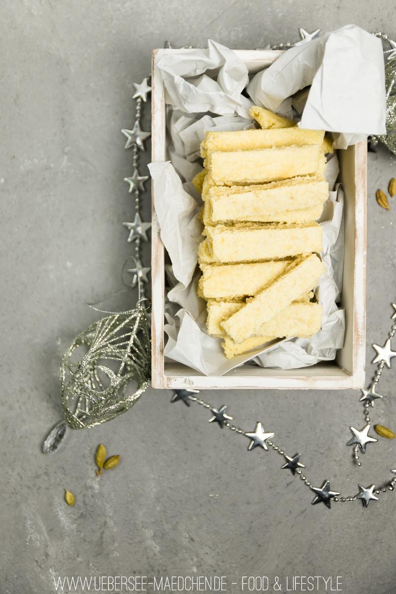 Kardamom-Shortbread mürbes Plätzchen Rezept ganz einfach ohne Ausstechen von ÜberSee-Mädchen Foodblog Bodensee Überlingen