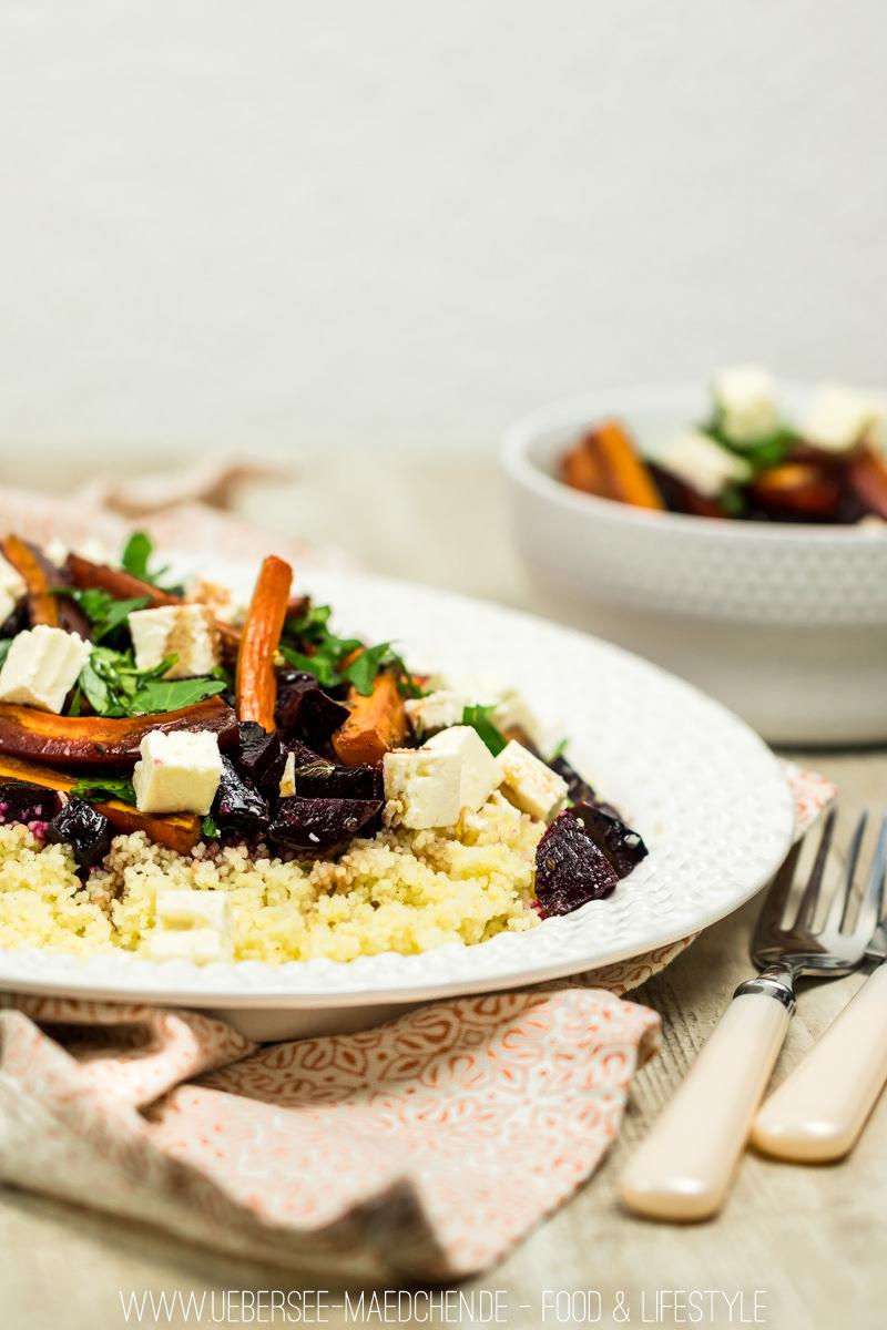 Couscous mit Roter Beete und Karotten aus dem Ofen | ÜberSee-Mädchen