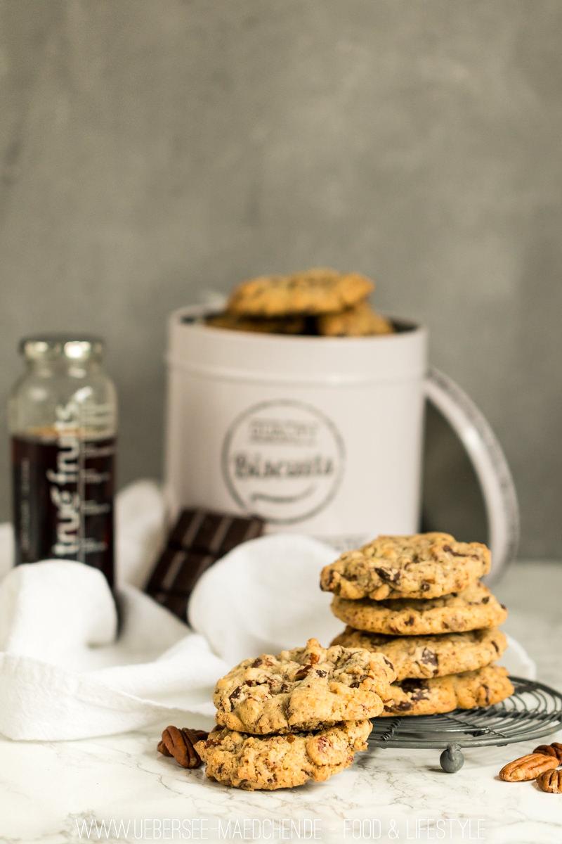 Pekannuss-Schoko-Cookies nach Basisrezept Cookie Keks selbst machen wie bei Subways soft Rezept von ÜberSee-Mädchen Foodblog vom Bodensee Überlingen