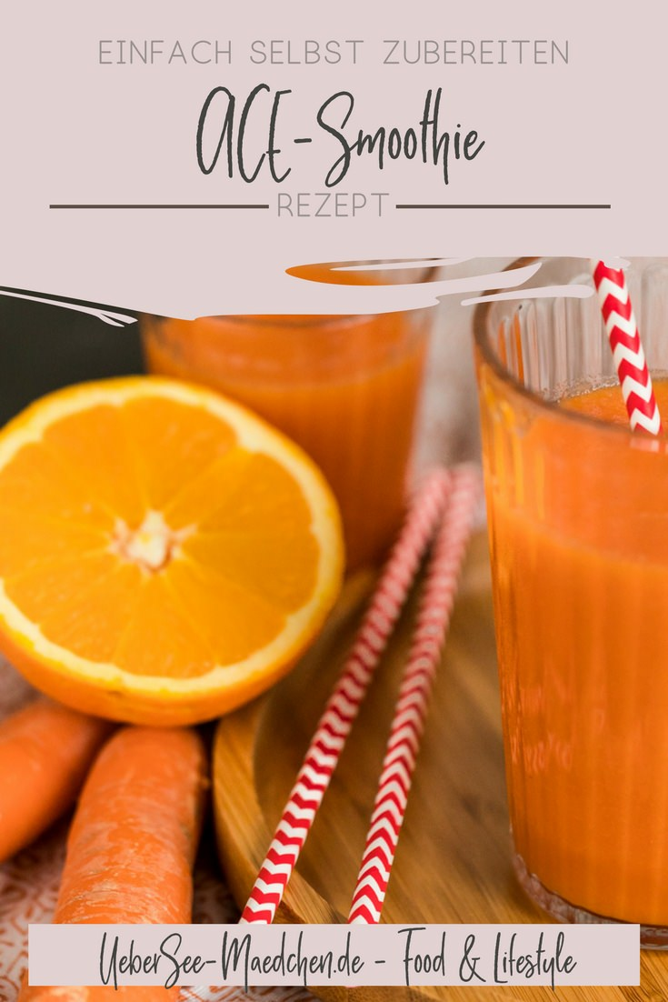 Rezept für ACE-Smoothie ohne Zusatz mit Karotten Möhren Orangen und Apfel von ÜberSee-Mädchen der Foodblog vom Bodensee Überlingen