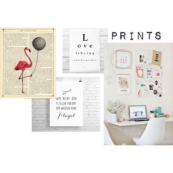 Verschiedene Prints für den Arbeitsplatz