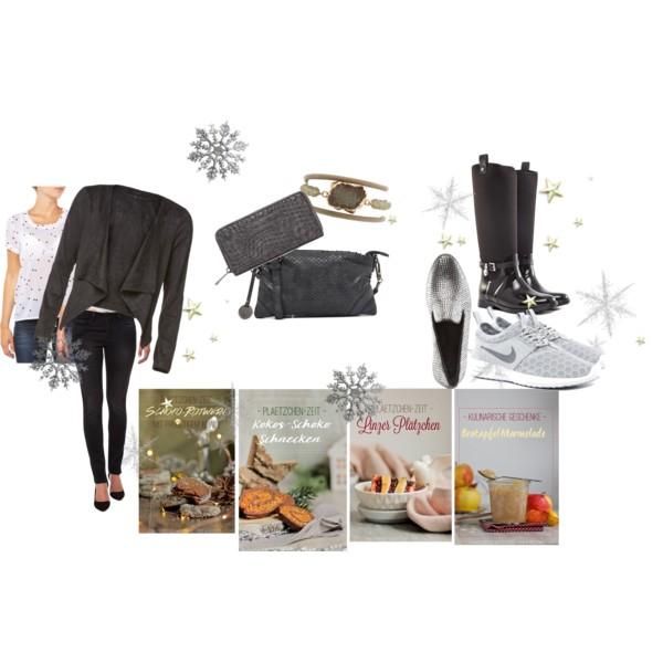 Eine Zusammenstellung von winterlichen Kleidungsstücken perfekt für Weihnachten
