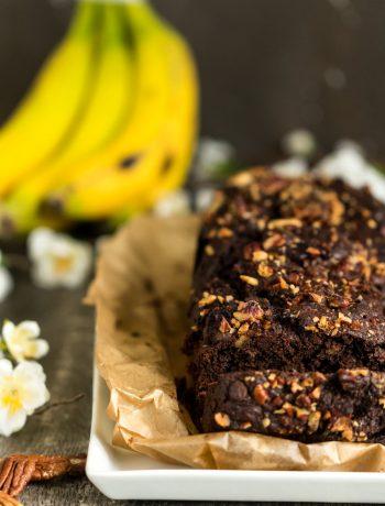 Bananenkuchen mit viel Schokolade Resteverwertung Banane Rezept von ÜberSee-Mädchen Foodblog vom Bodensee Überlingen