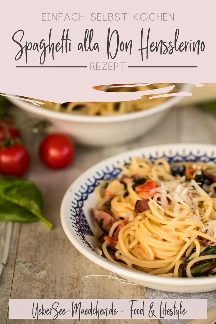 Pasta Spaghetti alla Don Hensslerino selbstgemacht_title