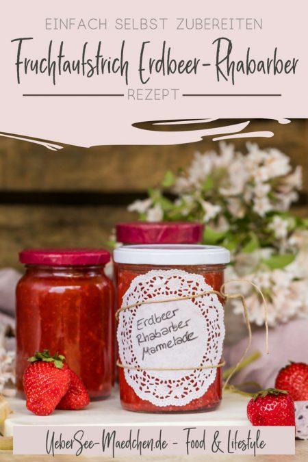 Erdbeer-Rhabarber-Aufstrich selbstgemacht in Einmachgläsern mit Tortenspitzendekoein Rezept von ÜberSee-Mädchen der Foodblog vom Bodensee Überlingen
