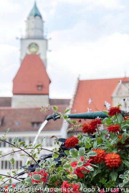 Blick auf die Überlinger Hofstatt eine Sehenswürdigkeit bei Konstanz am Bodensee