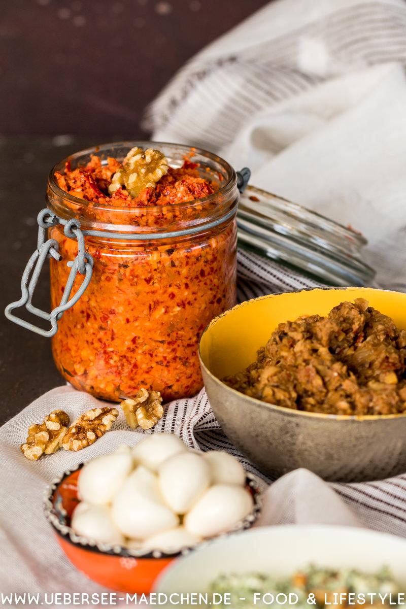 Muhammara mit Spitzpaprika Walnuss selbstgemacht Rezept von ÜberSee-Mädchen Foodblog vom Bodensee Überlingen