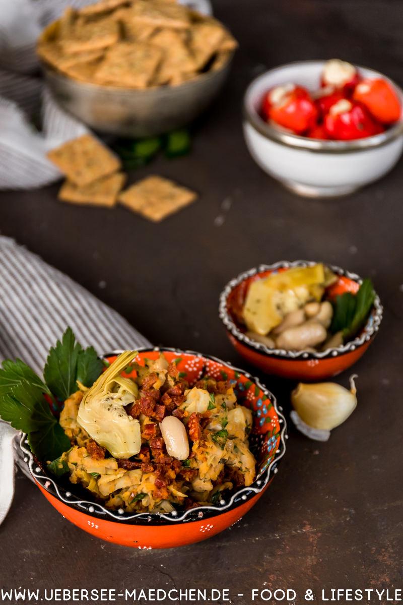 Bohnen-Artischocke-Chorizo Aufstrich Rezept ÜberSee-Mädchen Foodblog vom Bodensee Überlingen