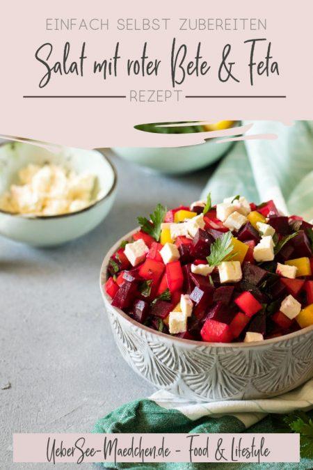 Salat mit roter Bete aus dem Ofen, Feta und Petersilie Rezept vom ÜberSee-Mädchen